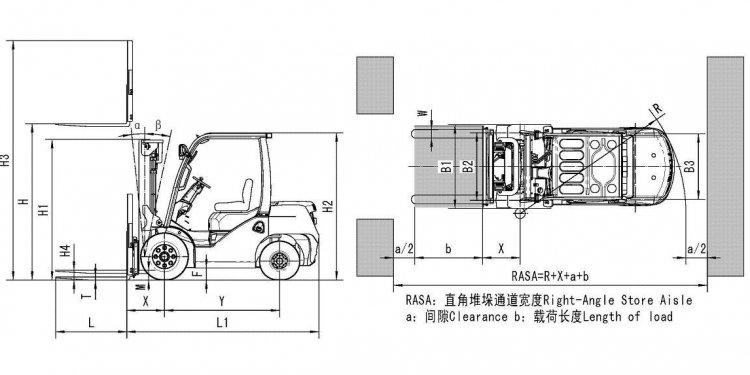 Ton Diesel Forklift Truck