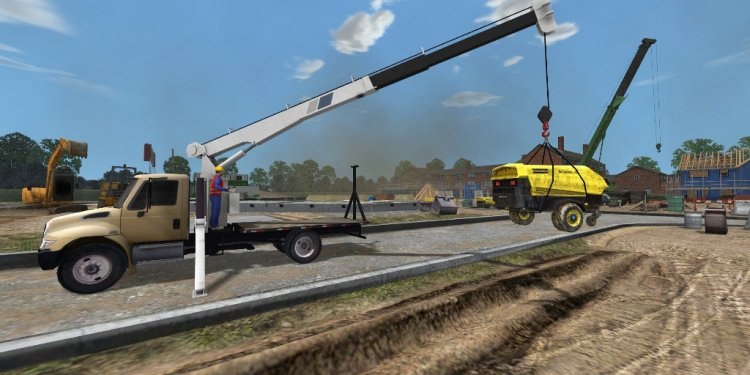 Boom Truck Crane Full size