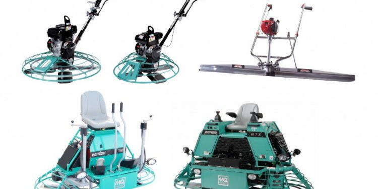 Concrete finishing equipment