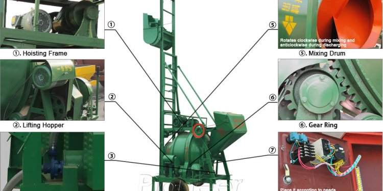 JZD300T Concrete Mixer Machine