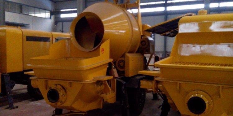 Stationary concrete mixer pump