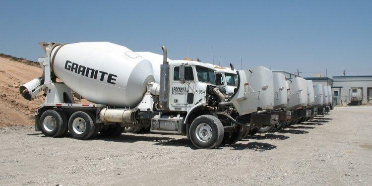 Concrete trucks had their