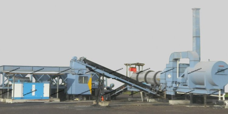 Hot Mix plant Working
