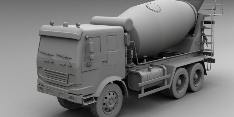 Concrete mixture truck