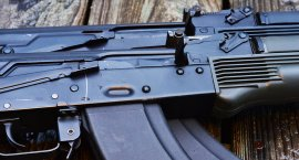 Stamped rifle shown on top of a milled one. Very similiar (Photo by: Jim Grant)